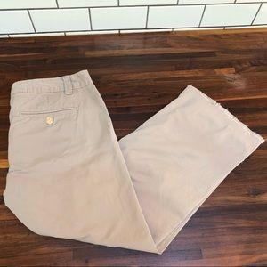 TORY BURCH Tan Summer Chino Pants Size 28
